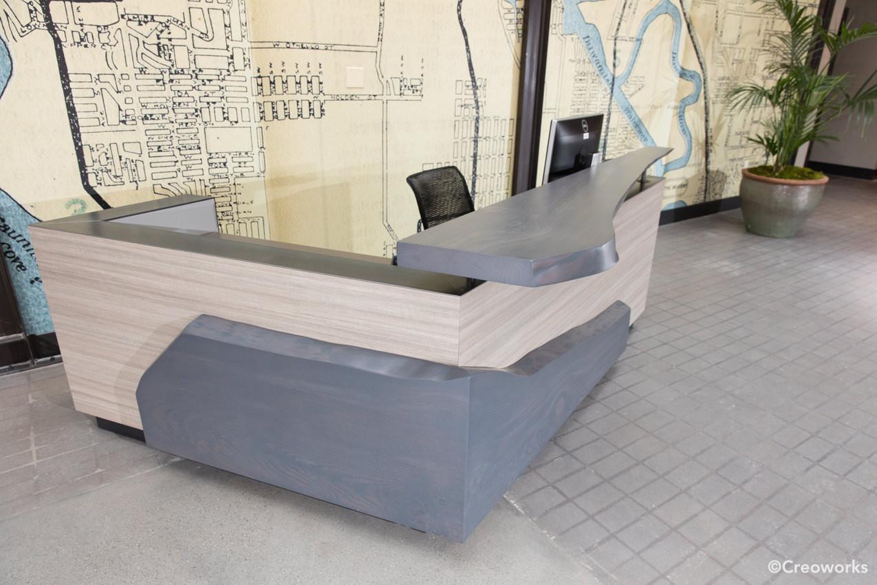 Custom reception desk
