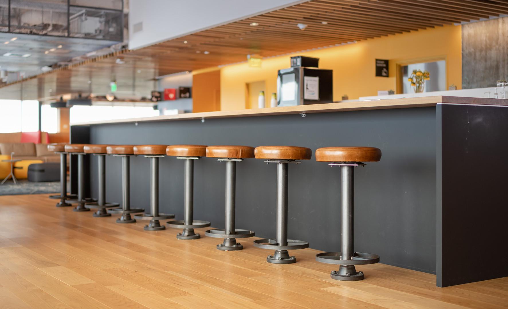 Leather bar stools