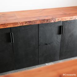 Custom wood and steel cabinets