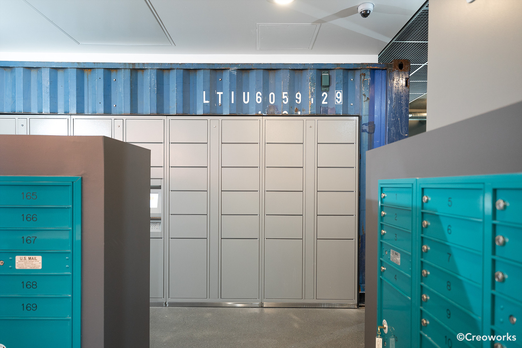 Shipping container wall & room