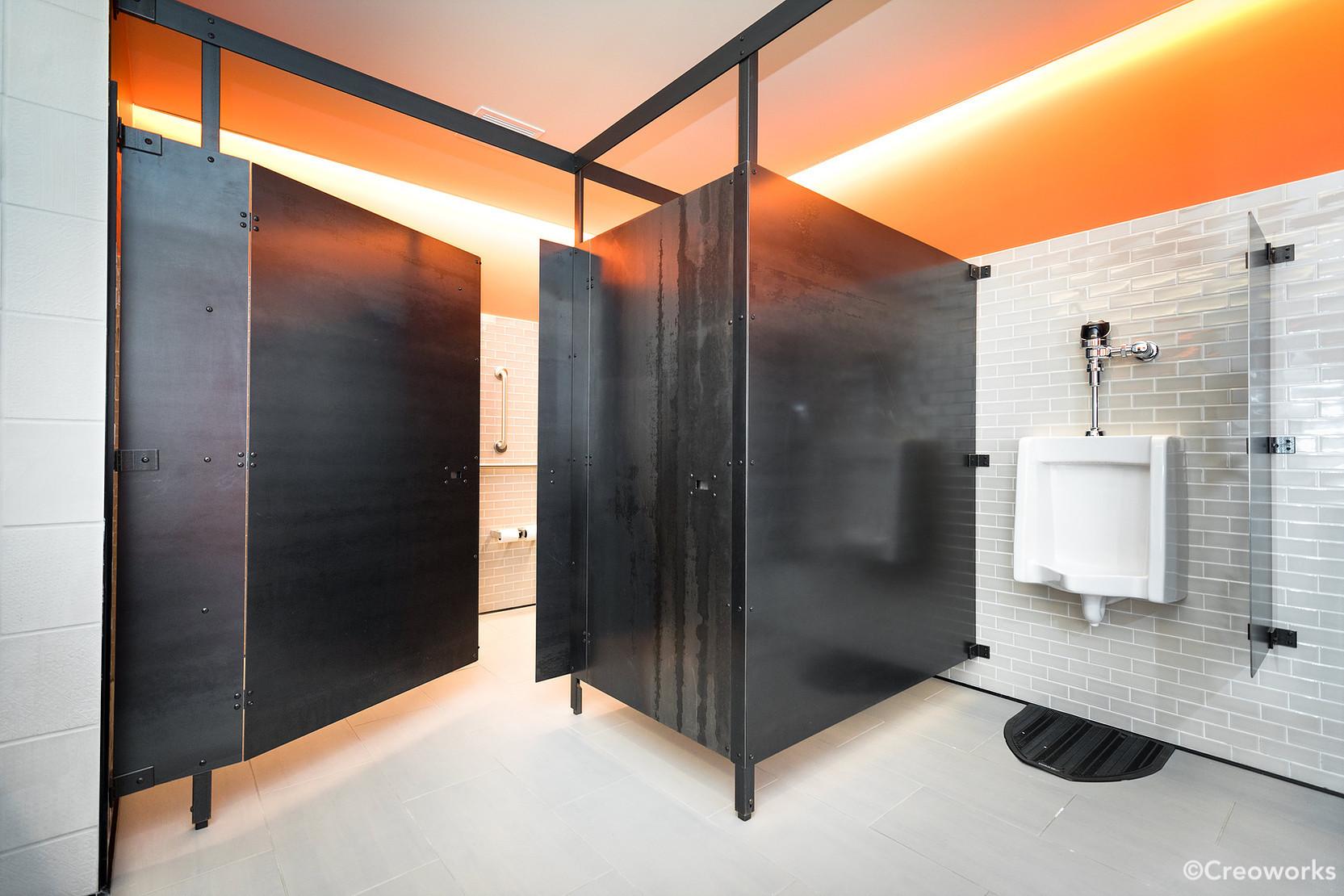 Custom steel bathroom stalls