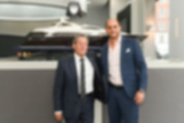 David Lewis, Director of Sunseeker London and Tomer Ben CEO & Founder, Solomon Mines Luxury Jewish Magazine