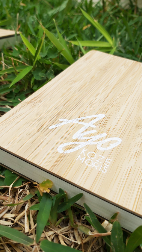 Carnet couverture en bambou