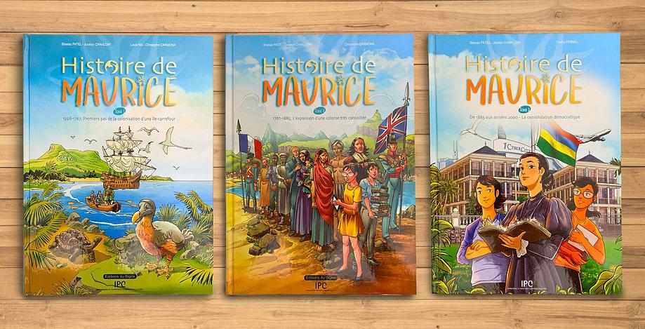 Histoire de Maurice en BD - 3 tomes.jpg