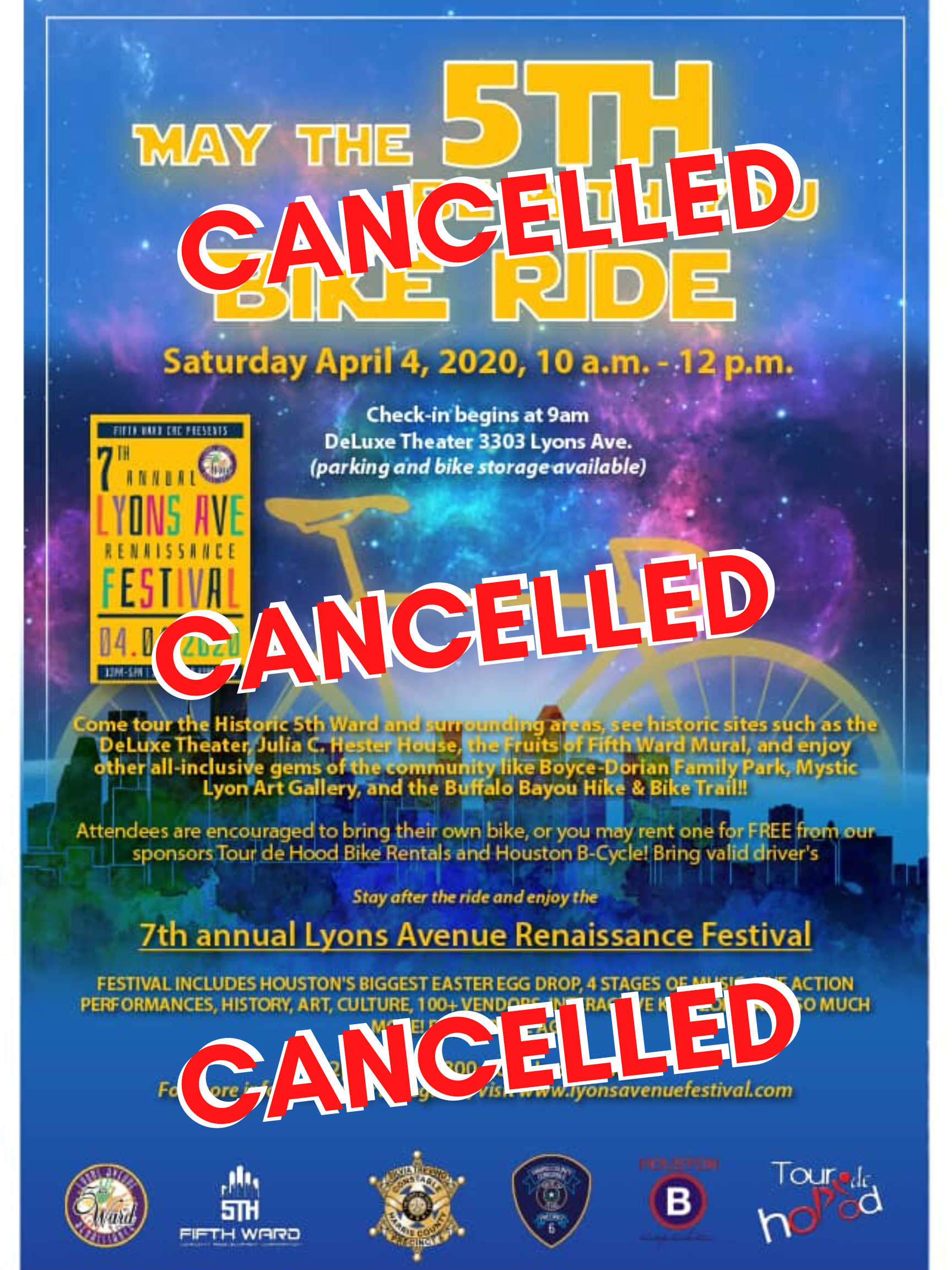 LARF 2020 Bike Ride Cancelled  (1)