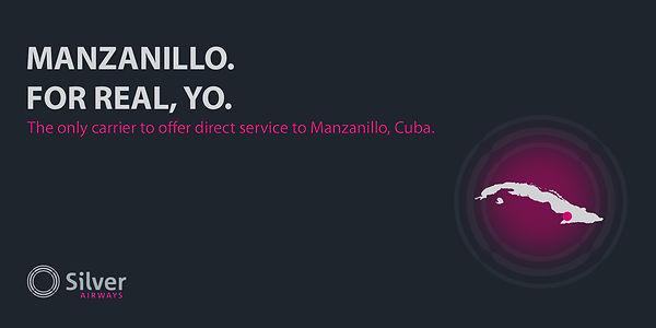 Silver airways billboard ad cuba manzanillo  Dillon Hearns Graphic Design creation