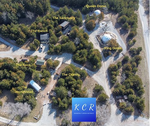 Facebook - Aerial View of KCR Glamping U