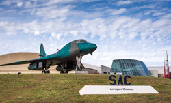 SAC Entrance with Sign and Plane Cropped
