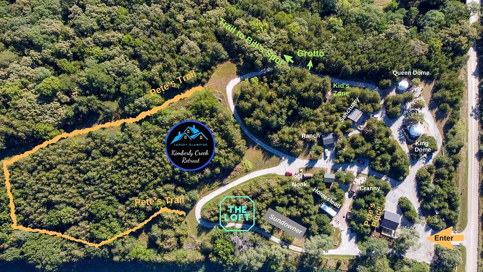 small size kimberly creek retreat map 4-