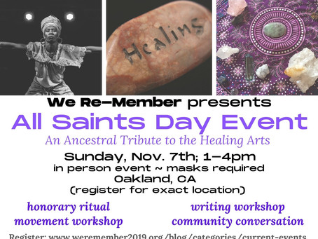 All Saints Day Event- An Ancestral Tribute to the Healing Arts