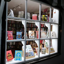 Window display for bookshop in Wadhurst East Sussex - independent bookshop near Tunbridge Wells and Crowborough