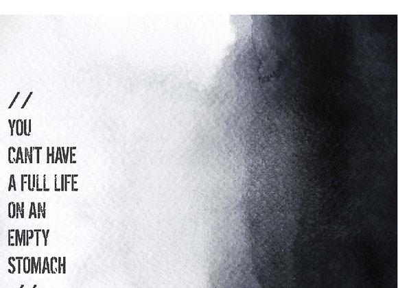FULL LIFE/EMPTY STOMACH // מארז נייר 48 יחידות