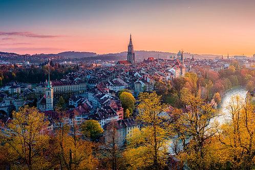 Por do Sol em Berna