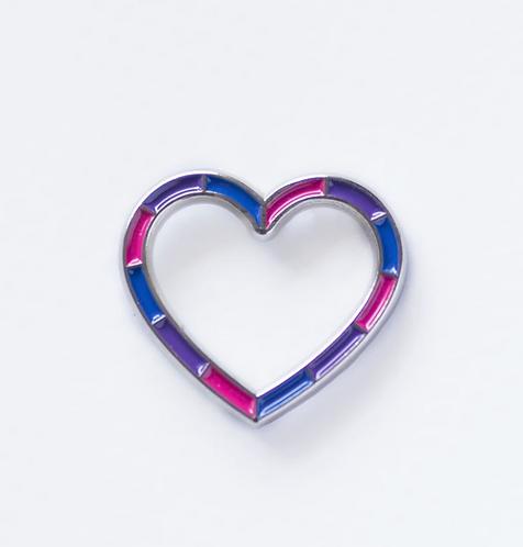Bi Heart Pin