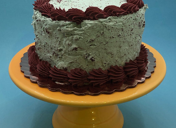 "6"" mint cookies and cream cake"