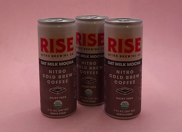 oat milk nitro cold brew mocha (Rise Brewing Co.)
