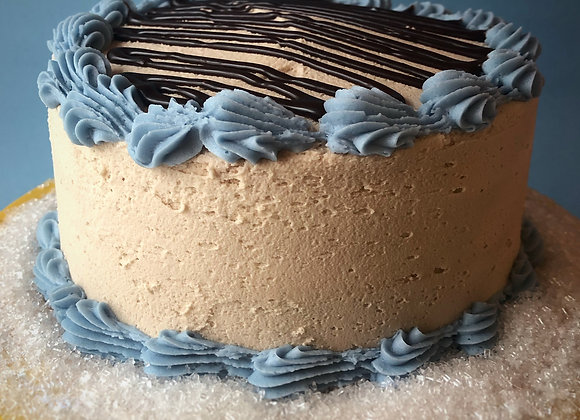 """""""the pisces"""" 6"""" chocolate cake with sea salt caramel icing"""