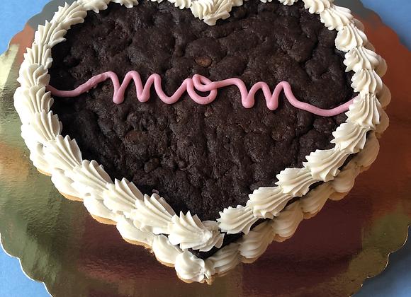 'Mom' Heart Shaped Cookie Cake: XO Chocolate Chip