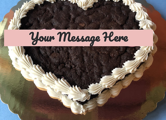 Personal Message: Heart Shaped Cookie Cake: XO Chocolate Chip