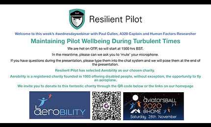Maintaining Pilot Wellbeing During Turbulent Times - Captain Paul Cullen