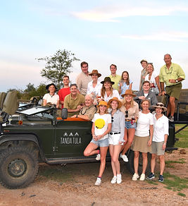 18 family members on a 2 week safari in South Africa