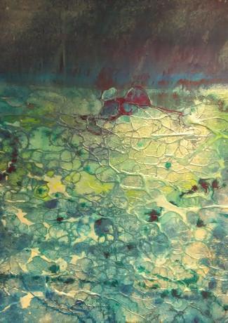 """Synergy"" mixed media on canvas 60 x 50 cm £275 inc UK p+p"