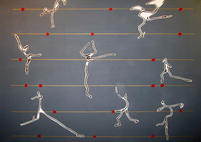 Dancers On Grey with Red Dots.jpg