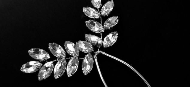 Olive Branch Rhinestone Bridal Hair Pin_