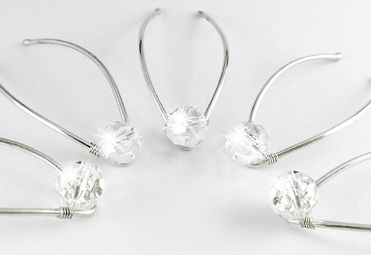 Swarovski Crystal Bridal Hair Pins 10mm0