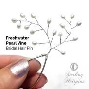 Freshwater Pearl Vine Bridal Hair Pins