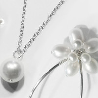 Bridal Necklace and wedding accessories made of solid sterling silver