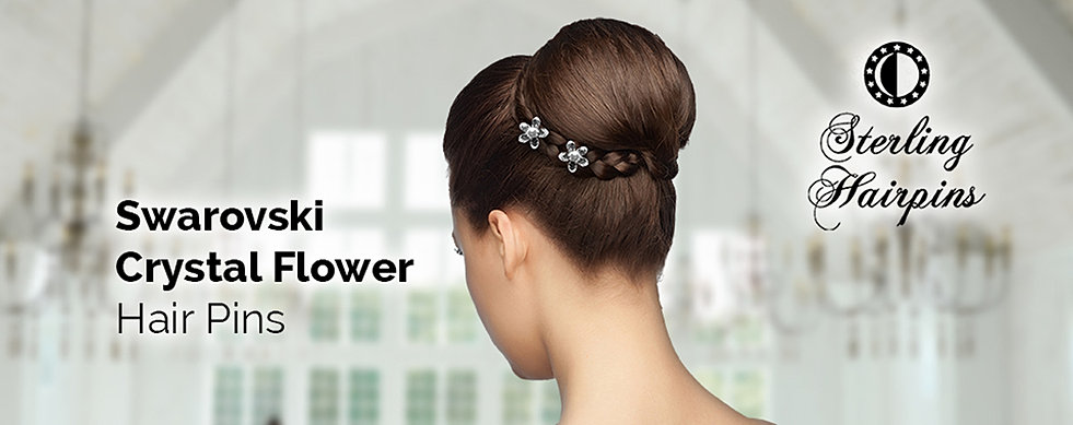 Bridal hair pins pearl and crystal accessories sterling hairpins swarovski crystal flower bridal hair junglespirit Images