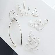 Sterling Silver Monogram Bridal Hair Pins