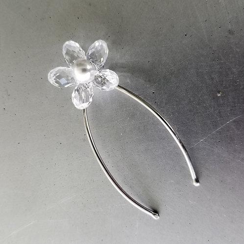 Swarovski Crystal and Swarovski Pearl Cluster Sterling Silver Bridal Hair Pins | STERLING HAIRPINS