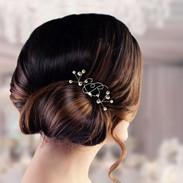 SQURE small Monogram Bridal Pearl Hair P