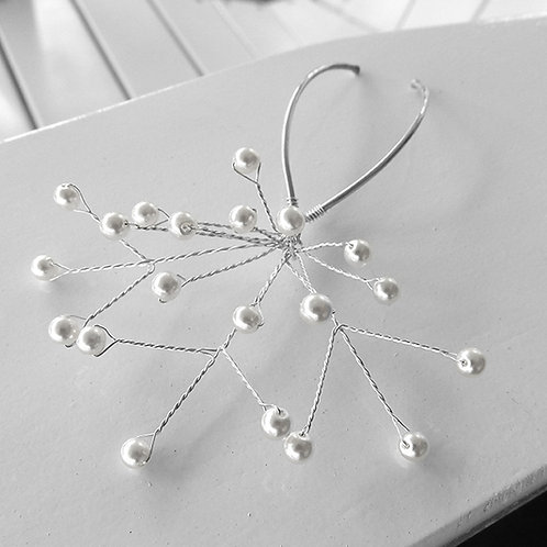 Pearl Spray Sterling Silver Bridal Hair Pins | STERLING HAIRPINS