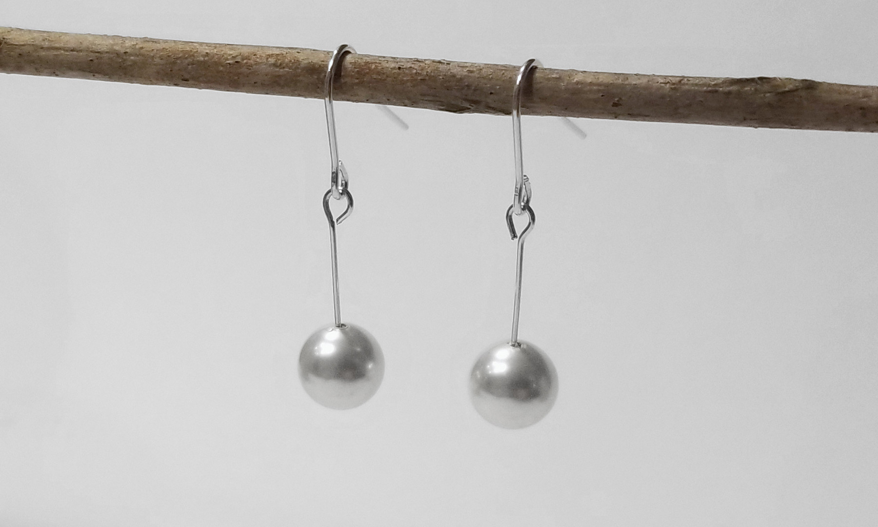 Pearl or Swarovski Bridal Pearl Earrings