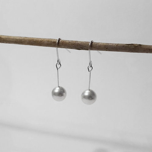 Sterling SIlver Solitaire Bridal Earrings. Choice of Swarovski Crystals, Swarovski Pearls or genuine pear | STERLING HAIRPINS