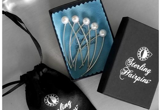 Freshwater Pearl Bridal Hair Pins