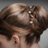 Freshwater Pearl Solitaire Bridal Hair Pins
