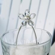 Swarovski Crystal Flower and Pearl Bridal Hair Pins