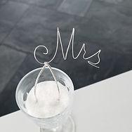Sterling Silver Monogram Mrs Bridal Hair
