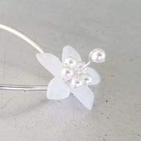 Swarovski Pearl Flower Girl Hair Pins