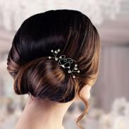 Monogram Bridal Hair Pins