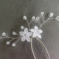 Summer Swarovski Crystal and Flower Bridal Hair Pins