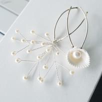 Seashell Beach Bridal Hair Pin