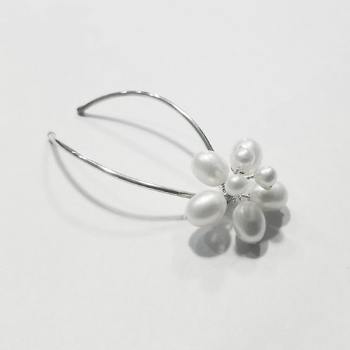 Apple Blossom Freshwater Pearl Hair Pins
