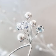 Swarovski Pearl and Crystal Steling Silver Bridal Hair Pins