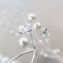Swarovski Pearl and Crystal Steling Silver Bridal Hair Pins