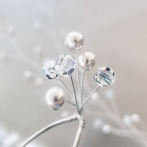 Pearl and Crystal Firework Spray Hair Pins